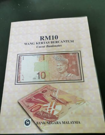 Limited edition banknote collection!! RM10 3in1 uncut banknote (rare)